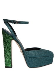 Sergio Rossi 140Mm Crisscrossing Glittered Sandals