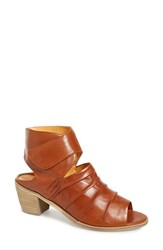 Women's Everybody 'Fidele' Peep Toe Sandal Terra Brown Glove Leather