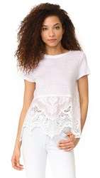 Generation Love Wheeler Tee With Lace Hem White
