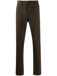 Transit Straight Leg Trousers Brown