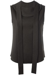 Each X Other Front Straps Sleeveless Blouse Brown