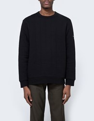 Stussy Quilted Crew Neck Black