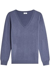 Closed Pullover With Wool And Cashmere Blue