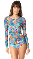 Luli Fama Inked Babe Rash Guard Multi
