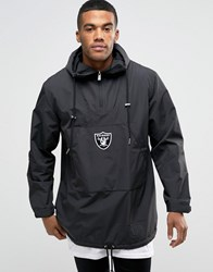 New Era Raiders Poncho Overhead Jacket Black