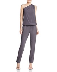Ramy Brook Lulu One Shoulder Jumpsuit Gunmetal