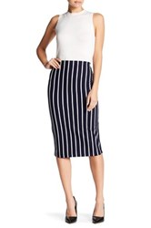 Sanctuary Striped Ponte Pencil Skirt Multi