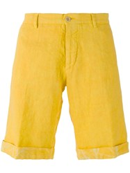 Etro Turn Up Hem Chino Shorts Yellow Orange