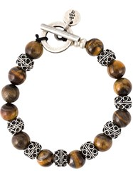Eleventy Beaded Bracelet Brown