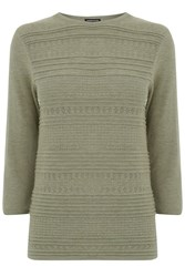 Warehouse Pretty Stitch Crew Jumper Light Green
