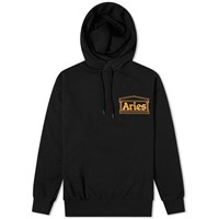 Aries Zine Hoody Black