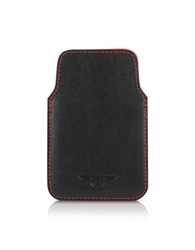 Bentley Ettinger Leather Iphone Case Black