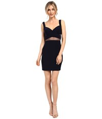 Faviana Jersey W Illusion Cut Outs 7856 Navy Women's Dress
