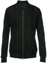 Devoa Zip Up Striped Jacket Black
