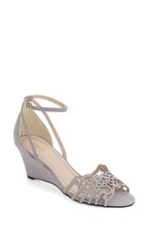 Women's Klub Nico 'Kingston' Ankle Strap Wedge Sandal Light Grey