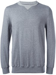 Sacai Crew Neck Sweatshirt Grey