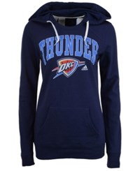 Adidas Women's Oklahoma City Thunder Mesh Arch Hooded Sweatshirt Navy
