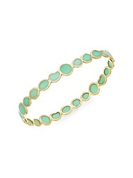 Ippolita Polished Rock Candy Chrysoprase And 18K Yellow Gold Bangle Bracelet Gold Green