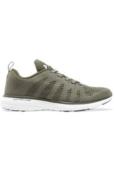 Athletic Propulsion Labs Techloom Pro Cashmere Blend Mesh Sneakers Army Green