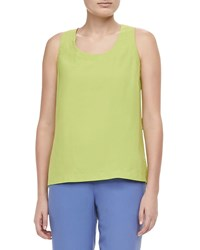 Go Silk Easy Fit Tank Petite Plus Size Green