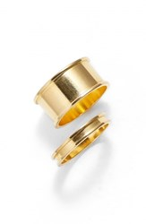 Women's Tuleste Stackable Channel Rings Gold Set Of 2