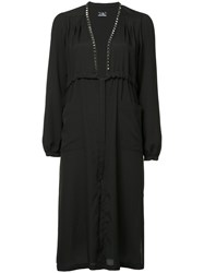 Hysteric Glamour Studded Tie Waist Gown Black