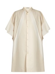 Issey Miyake Multi Panel Tunic Shirtdress Ivory