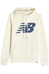 New Balance Printed Sweatshirt With Cotton Beige