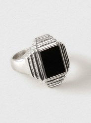 Topman Geometric Shape Ring Grey