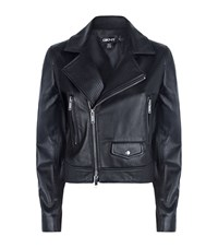 Dkny Leather Biker Jacket Female