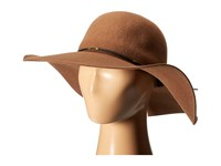 Scala Wool Floppy Hat With Wax Cord Trim Pecan Caps Brown