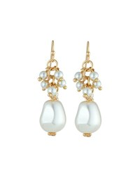 Emily And Ashley Baroque Pearlescent Bead Dangle Earrings