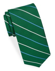 Brooks Brothers Classic Striped Tie Green