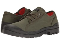Palladium Pampa M65 Oxford Army Green Black Flame Men's Lace Up Casual Shoes