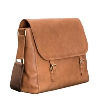 Maxwell Scott Bags S Classic Italian Leather Satchel Bag In Tan