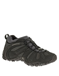Merrell Chameleon Prime Stretch Leather Sneakers Black