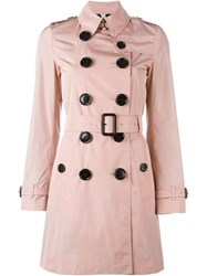 Burberry London 'Plympton' Trench Coat Pink And Purple