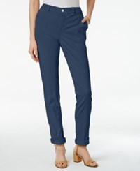 Styleandco. Style Co. Chino Boyfriend Pants Only At Macy's New Uniform Blue