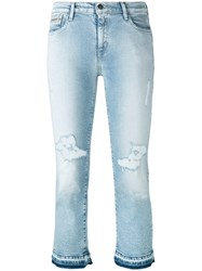 Calvin Klein Jeans Ripped Cropped Blue