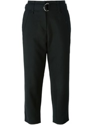 Iro Cropped Belted Trousers Black