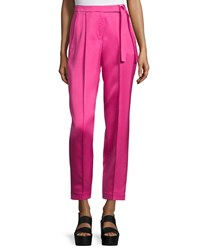 Edun Tapered Wide Leg Ankle Pants Neon Pink
