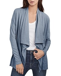 Velvet By Graham And Spencer Slub Cardigan Lakeblue