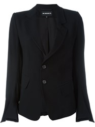 Ann Demeulemeester Two Button Blazer Black