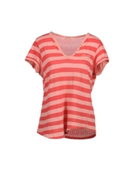 Levi's Red Tab Short Sleeve Sweaters Pink