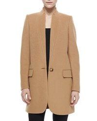 Stella Mccartney Bryce One Button Notched Collar Coat Camel