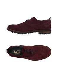 Snobs Footwear Lace Up Shoes Deep Purple