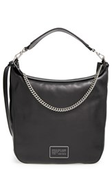 Marc By Marc Jacobs 'Top Of The Chain' Leather Hobo Black