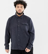 Another Influence Plus Fleck Shirt Navy