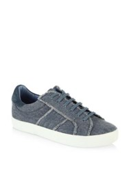 Joie Dakota Denim Sneakers Dark Denim