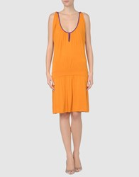 Fairly Dresses Short Dresses Women Orange